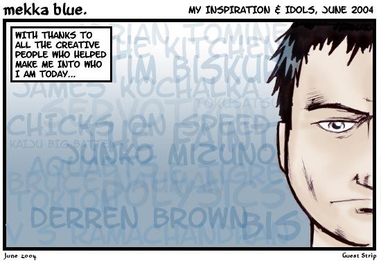 Guest strip by David Hogg.